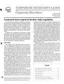 Corporate Secretary s Guide Corporate Directions