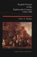 English Fiction of the Eighteenth Century, 1700-1789