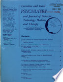 Corrective and Social Psychiatry and Journal of Behavioral Technology Methods and Therapy