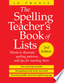 The Spelling Teacher's Book of Lists