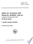 Index of Oil-shale and Shale-oil Patents, 1946-56