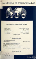 Michigan Journal of International Law