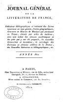 Journal général de la littérature de France