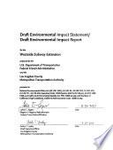 Westside Subway Extension  : Environmental Impact Statement