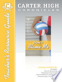 Don t Blame Me Teacher s Resource Guide CD