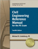 Civil Engineering Reference Manual For The Pe Exam Book PDF