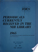 Periodicals Currently Received In The Nih Library