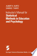 Instructor   s Manual for Statistical Methods in Education and Psychology
