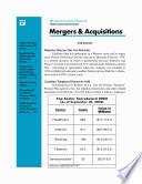 Telecom Mergers   Acquisitions