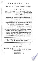 Observations Medical and Political on the Small-pox and Inoculation and on the decrease of mankind at every age, etc