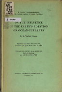 On the Influence of the Earth s Rotation on Ocean currents Book