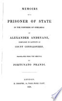 Memoirs of a prisoner of State in the fortress of Spielberg  tr  by F  Prandi Book