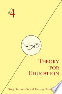 Cover of Theory for Education