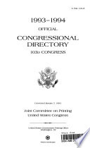 1993 1994 Official Congressional Directory