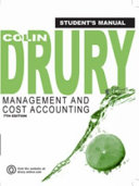 Management and Cost Accounting. Student's Manual