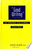 Good Writing In Cross Cultural Context