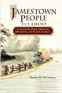 Jamestown People to 1800