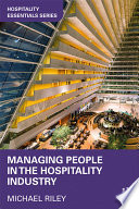 Managing People in the Hospitality Industry Book