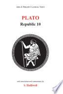 Plato  Republic X Book