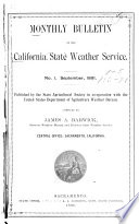 Monthly Review of the California Climate and Crop Service  in Co operation with the State Agricultural Society