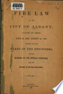 Fire Law of the City of Albany