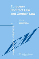 European Contract Law and German Law