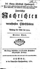 M. Georg Christoph Hambergers ...