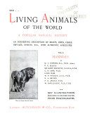 The Living Animals of the World Book