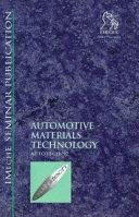 Automotive Materials Technology (Autotech '97)