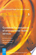 Guidelines for Evaluation of Environmental Health Services