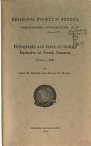 Bibliography and Index of Geology Exclusive of North America Book