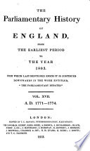 The Parliamentary History of England from the Earliest Period to the Year 1803 Pdf/ePub eBook