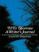 H  D  Thoreau  a Writer s Journal