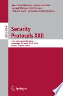 Security Protocols Xxii Book PDF