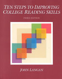 Ten Steps to Improving College Reading Skills Book