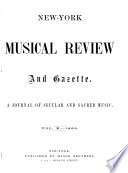 New York Musical Review and Gazette