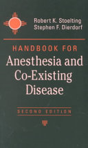 Handbook For Anesthesia And Co Existing Disease Book PDF