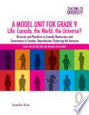 A Model Unit For Grade 9 Life Canada The World The Universe