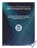 Transportation Security Administration Office of Inspection's Efforts to Enhance Transportation Security