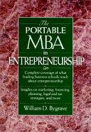 The Portable MBA in Entrepreneurship Book