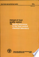 Manual of Food Quality Control Book