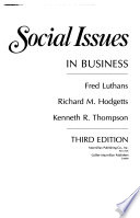 Social Issues in Business