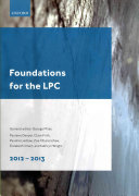 Foundations for the LPC 2012-13