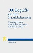 100 Begriffe aus dem Staatskirchenrecht