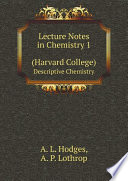 Lecture Notes in Chemistry 1 (Harvard College)