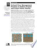Orchard Floor Management Practices to Reduce Erosion and Protect Water Quality