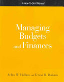 Managing Budgets and Finances Book
