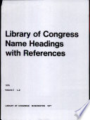 Library of Congress Name Headings with References