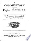 A Commentary upon the Prophet Ezekiel