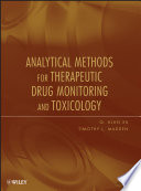 Analytical Methods for Therapeutic Drug Monitoring and Toxicology Book